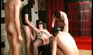 Inexperienced - French Mature Restrain bondage Group sex