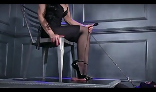 High-heeled shoes deep in subs shaft hole!!!