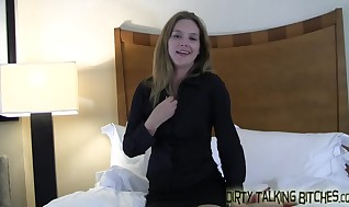 Fellows at my puffy hooters while you masturbate your shaft JOI