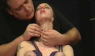 Piercing Torment And Beneath Dangling Wooly Of Thick Breasted Bondman Spit-filled Emily Sharpe In Weird Bondage, Tears And Big Wet Tugging