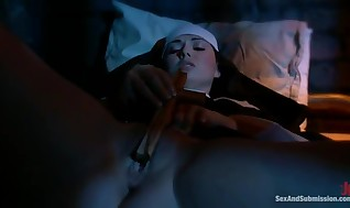Erotic Nun Has Trussed Up And Bumped Tough By ?2 Persons