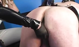 Outrageously Domina Frigging And Manhandling And Crossdresser's Sissy Clam Brown Eye