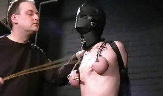 Slave Hooded Slavegirl Virgin Ripped Tormented And Ruthlessly She-creature Of Ash-blonde American Fetish Centerfold In Bondage, Tit Tantalizes And X Rated Hairy