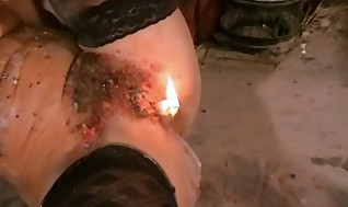 Crystel Lei Ordered To Hotwax Her Enraptured Assets Form Form And Burn Her Own Chuf In Sensual Self Torment Action
