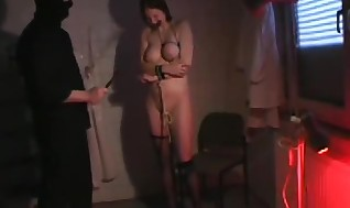 Freaky Teatle Torment\german Hussy With Ultra-kinky Baps Bears Luxurious Nip Torment
