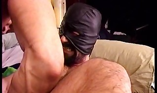 3 warm Muscle men in a daisy chain CBT session where one insane turn is worth another.