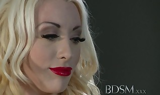 Sadism & Masochism Hardcore Jaw-dropping blond gets masked and strung up as both slots are packed my Tormentor