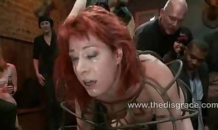 Odile has anal invasion lovemaking in restrain bondage in a box