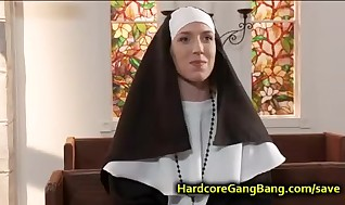 Nun dual foray bitchy in Church