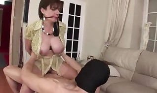 Mature trussed brit Girl Sonia screw and cum shot
