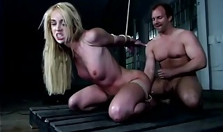 Trussed Sadism & Masochism fetish sub whore pound and facial cumshot