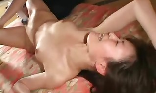 Asian biatch deepthroating hard-on and bounded like mad