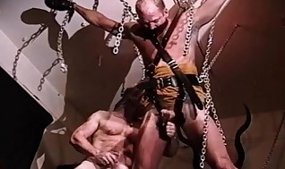 CBT bottom gets testicles deep-throated and supreme while weights pull his scrotum to the extraordinary as he screams.