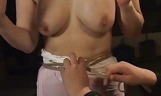 Absorbs Asian mummy hog tied and screwed