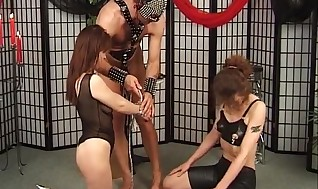 Clad up in leather and kneading the tormentor of restrain bondage prompts these broads to get their gams throughout and put fake penises inwards that fleshly pussy to reach ejaculation by BDSMSupremacy