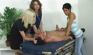 Molten Sadism & Masochism trampy interracial get their booties down on some doctor face