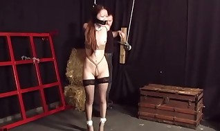 Juicy Asian woman hog tied and enjoying it p2