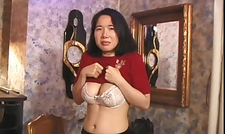 Bounded asian sweetheart submissive