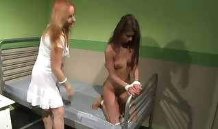 Nurse spanking her useless lovemaking peon in hospital ward