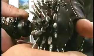 Round sub gets stands on her vagina by sir and her boobs flipped over with spikes Domination & submission